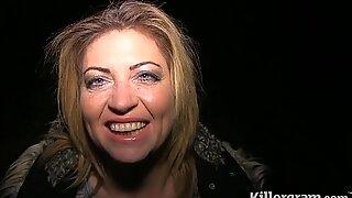 Killergram Filthy Emma Dogging i skogen och äter säd