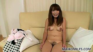 Chubby Asian slut Kayo Mukai pretends to be shy and innocent