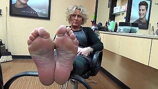 Incredible Mature Feet Soles