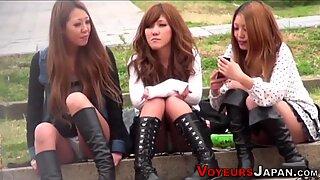 Asiatisk tonåringar trosor sett