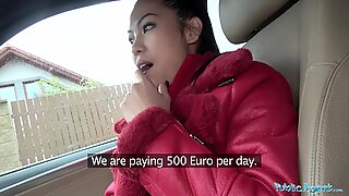 Offentlig agent Big Fun Bags Thai Lady älskar att andas och skruva Kuk