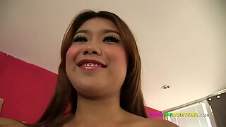 Beautiful Thai girl auditions at GoGo bar