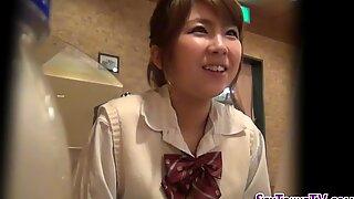 Japanese teen makes home movie fingering
