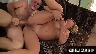 blondie grandma Karen Summers Enthusiastically fellates and Fucks a Thick Dick
