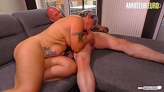 Amateureuro -Hot Gilf Fru går för eftermiddags hårt kön