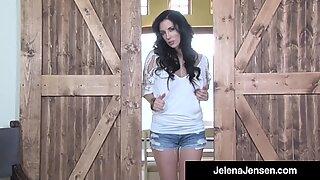 Wild Långa Ben Jelena Jensen Dildo borrar i cowboylandet!