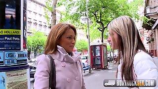 Het Szilvia Lauren överraskad av lesbisk modellagenten