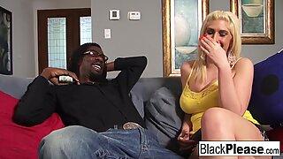 Busty blonde Kelli gets a BBC