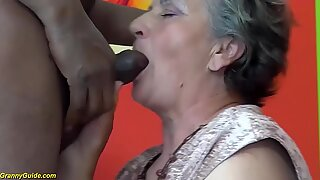 my chubby hairy bush grandma enjoys her first big black cock interracial porn lesson