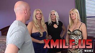 Wankz- Platinum Blond Trio Of Cougars av xmilf.us