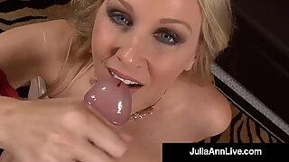 Storbröstad US MILF Julia Ann Mouth Fucks A Hard Kuk POV!