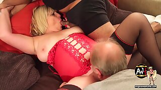 UK Porn starlet mummy Alisha Rydes at an Angels with Horns group sex party
