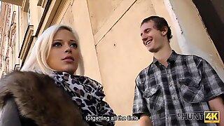 HUNT4K. Pretty blonde Ria Sunn nicely fucked in cuckold porn video