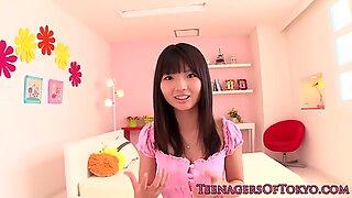 Nippon Tonåring Facialized efter att ha givit Avrunkning