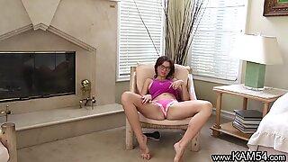Kam54 Horny teen on webcam spreads and rub