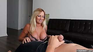 Milf Finds Teen Guy In Her Room Jacking Off His Cock