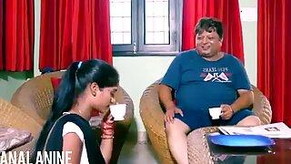 Analanin-het indisk hushållerska gör dagen bra